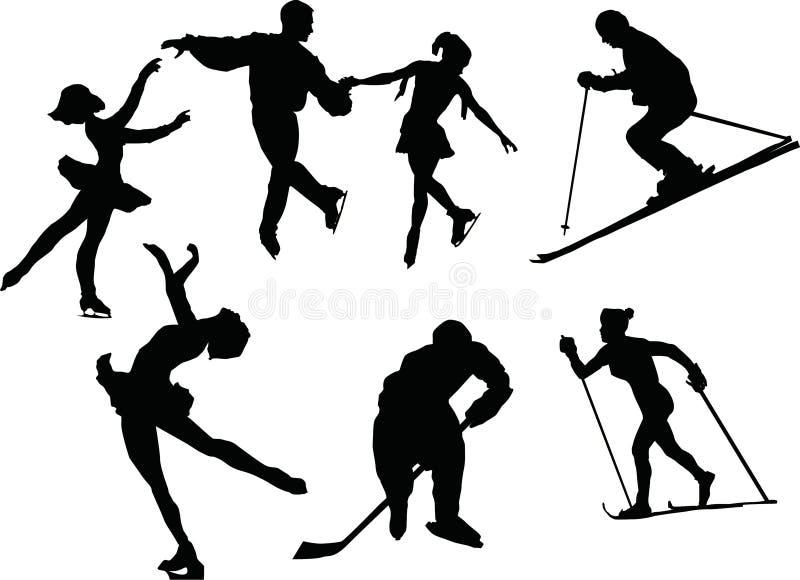 Esporte de inverno ilustração do vetor