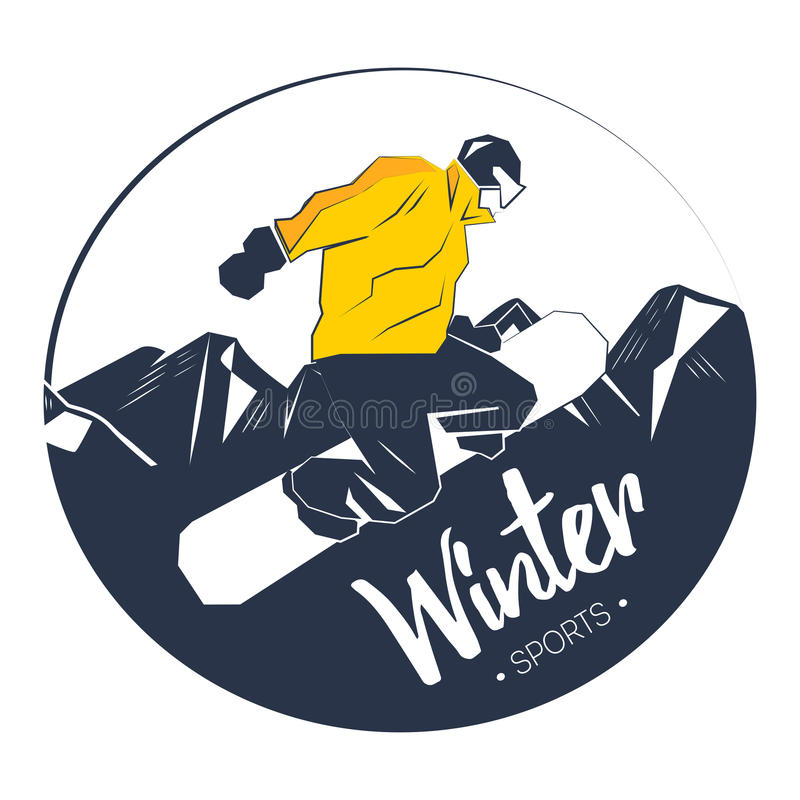 Esporte de inverno extremo ilustração do vetor