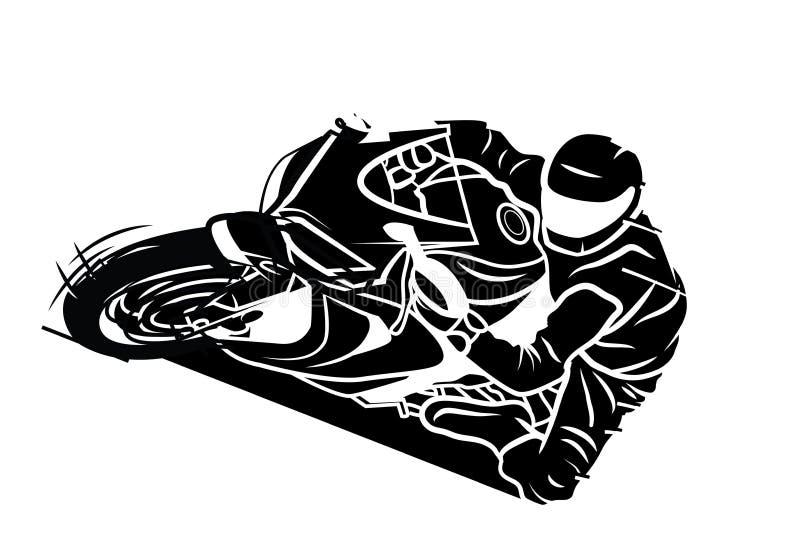 Esporte de Moto ilustração stock