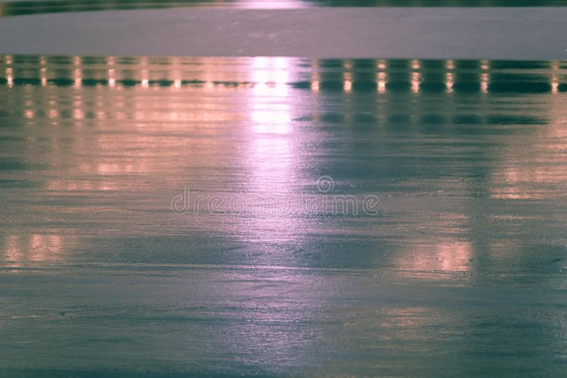 Esporte do fundo do sumário da pista de gelo, natureza de superfície imagem de stock royalty free