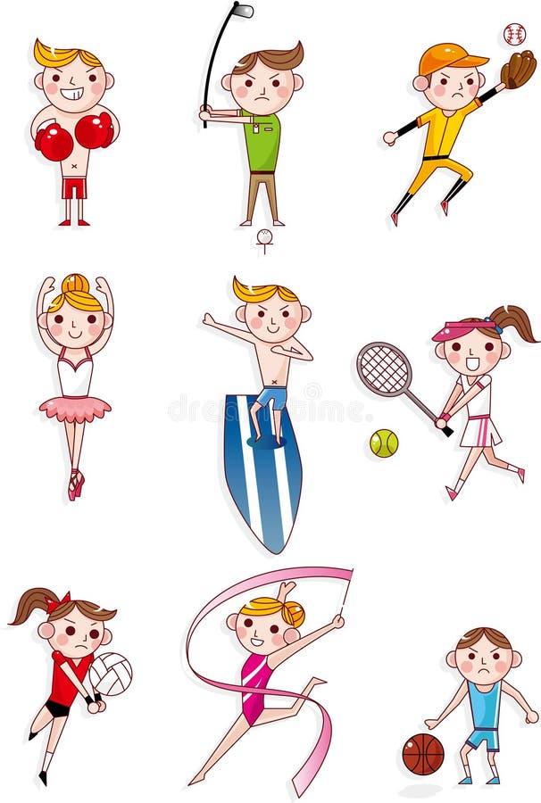 Esporte dos desenhos animados ilustração royalty free