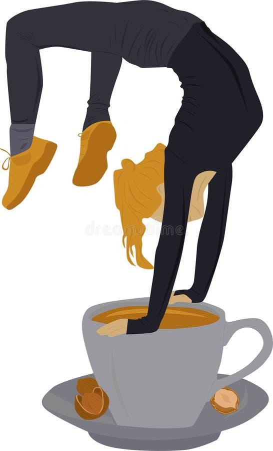 Esporte e café ilustração stock