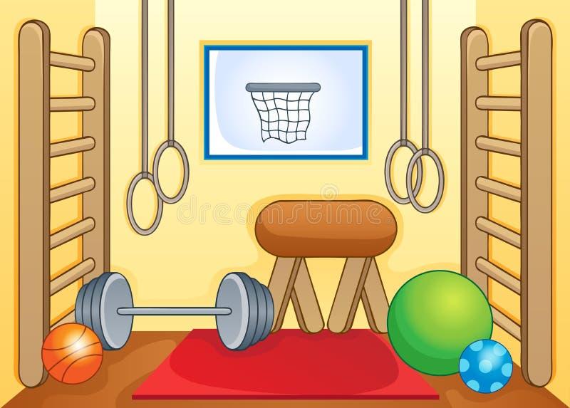 Esporte e imagem 1 do tema do gym ilustração royalty free