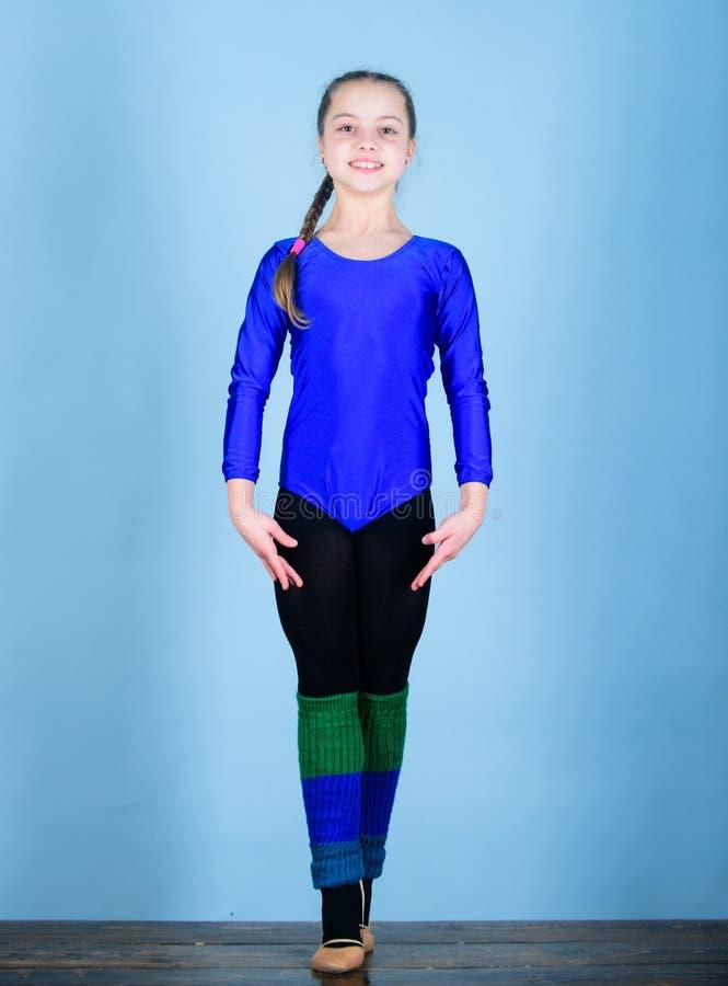 Esporte e saúde Ilustração do bailado dancer gymnastics Desportista feliz da criança Dieta da aptidão Energia Exercício do gym da foto de stock