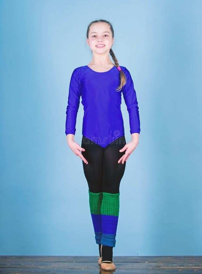 Esporte e sa?de Ilustra??o do bailado dancer gymnastics Desportista feliz da crian?a Dieta da aptid?o Energia Exerc?cio do gym da imagens de stock