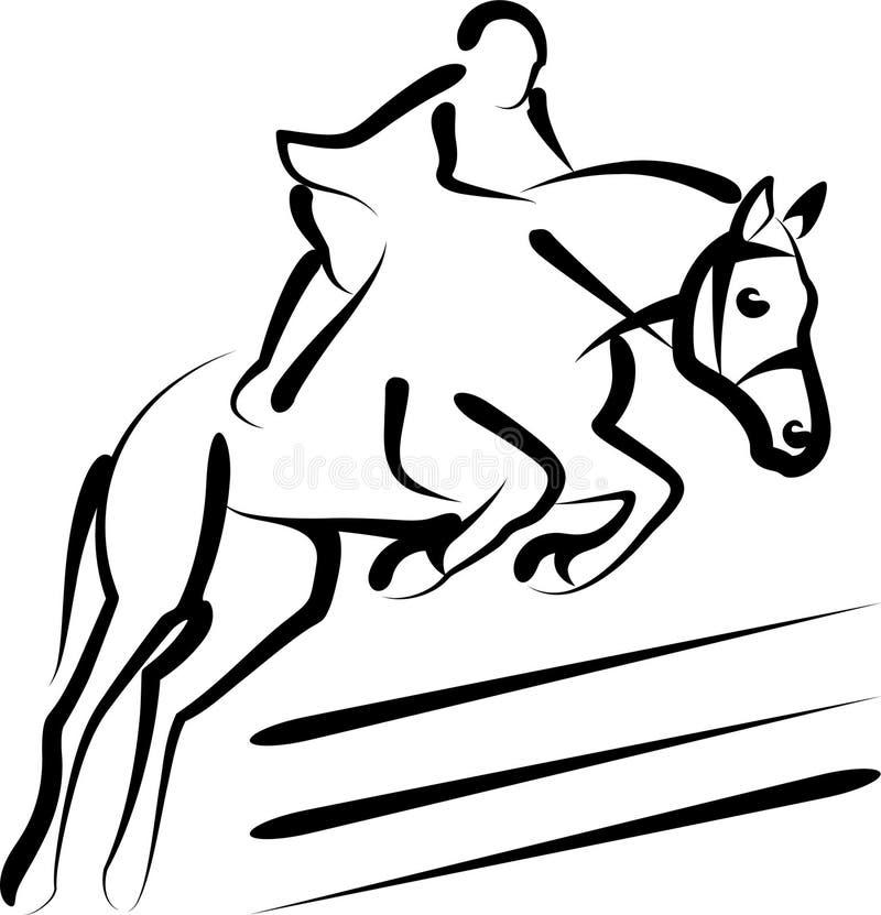 Esporte equestre ilustração royalty free