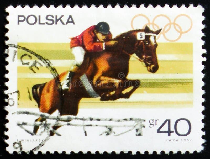 Esporte equestre, cerca de 1967 imagem de stock royalty free