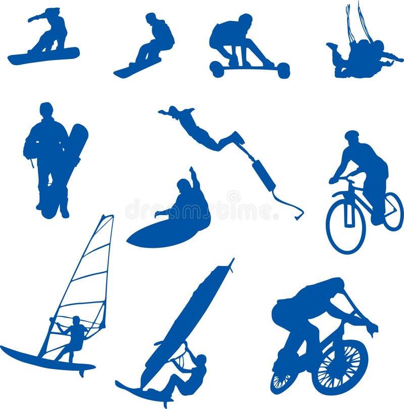 Esporte extremo ilustração stock
