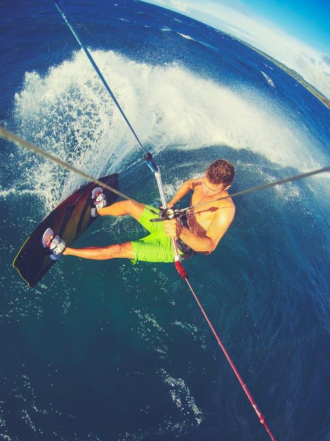 Esporte extremo, Kiteboarding imagens de stock