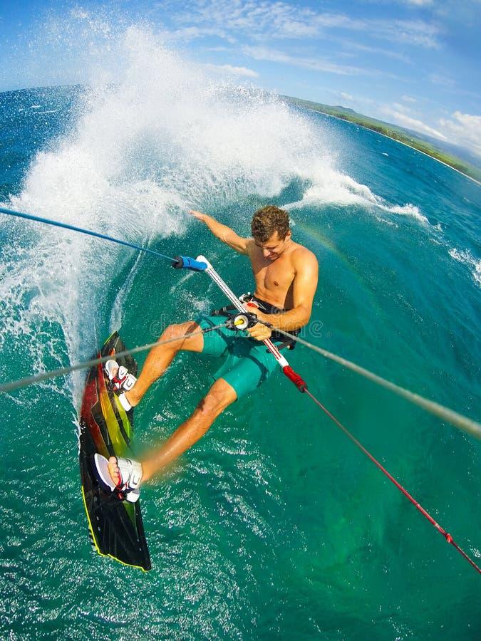 Esporte extremo, Kiteboarding fotos de stock