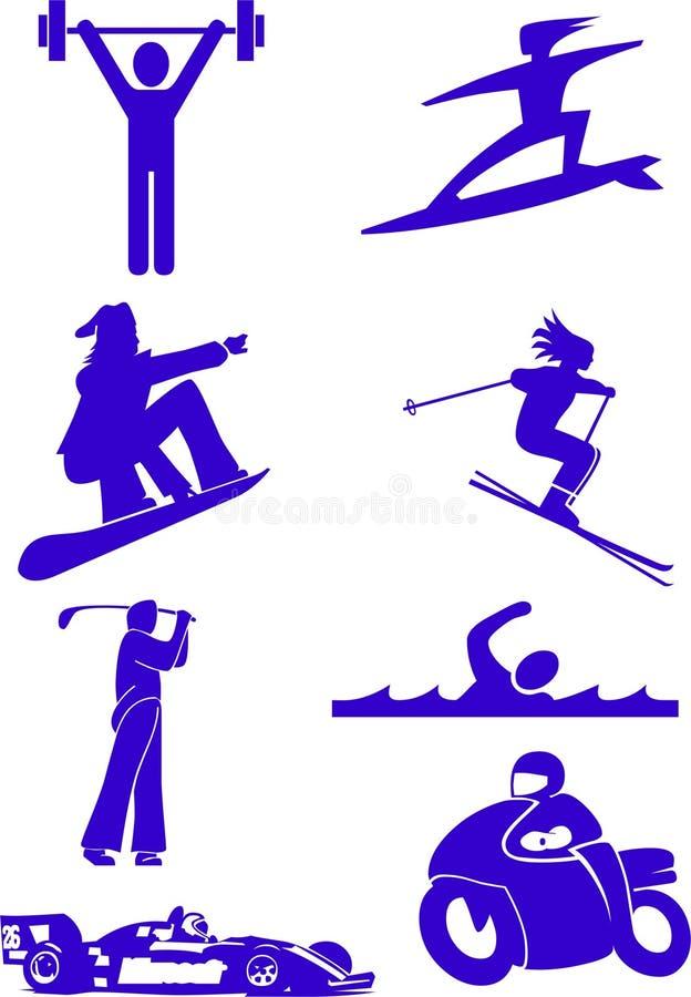 Esportes ilustração stock