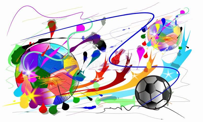 Esportes da ação do futebol e estilo da escova ilustração stock