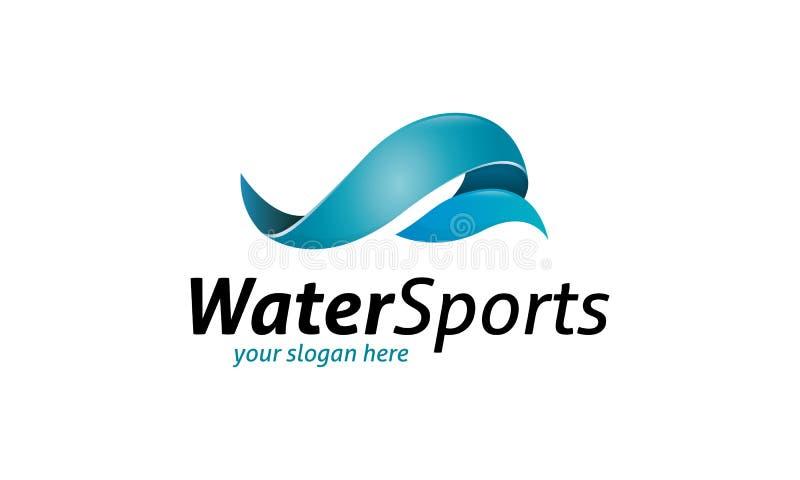 Esportes de água Logo Template ilustração do vetor