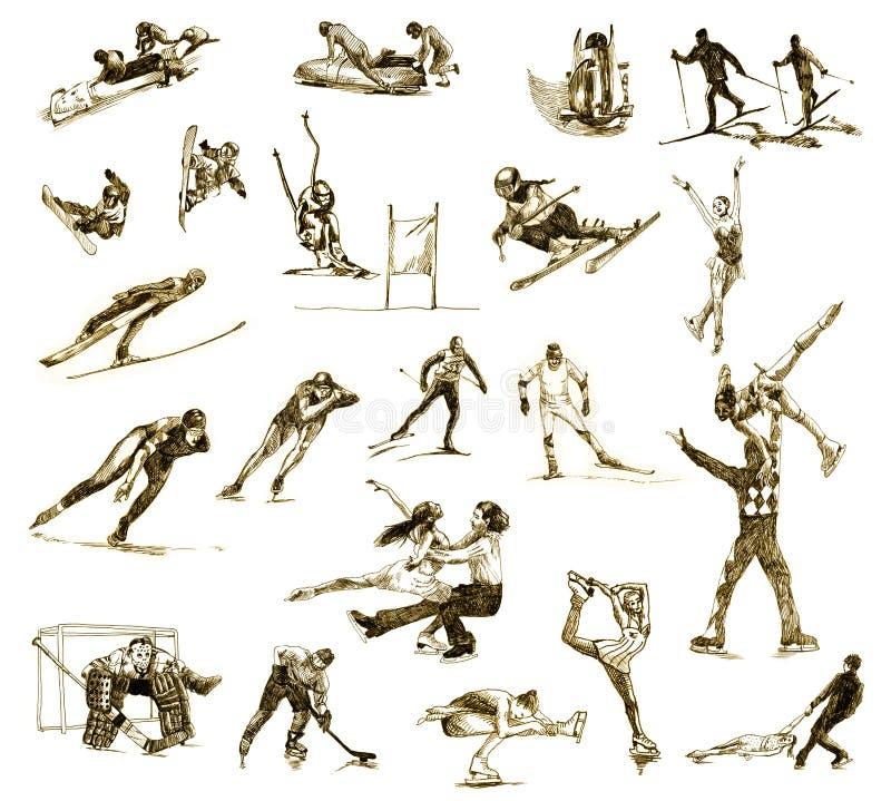 Esportes de inverno ilustração royalty free