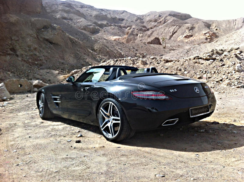 Esportes de Mercedes em Eilat foto de stock
