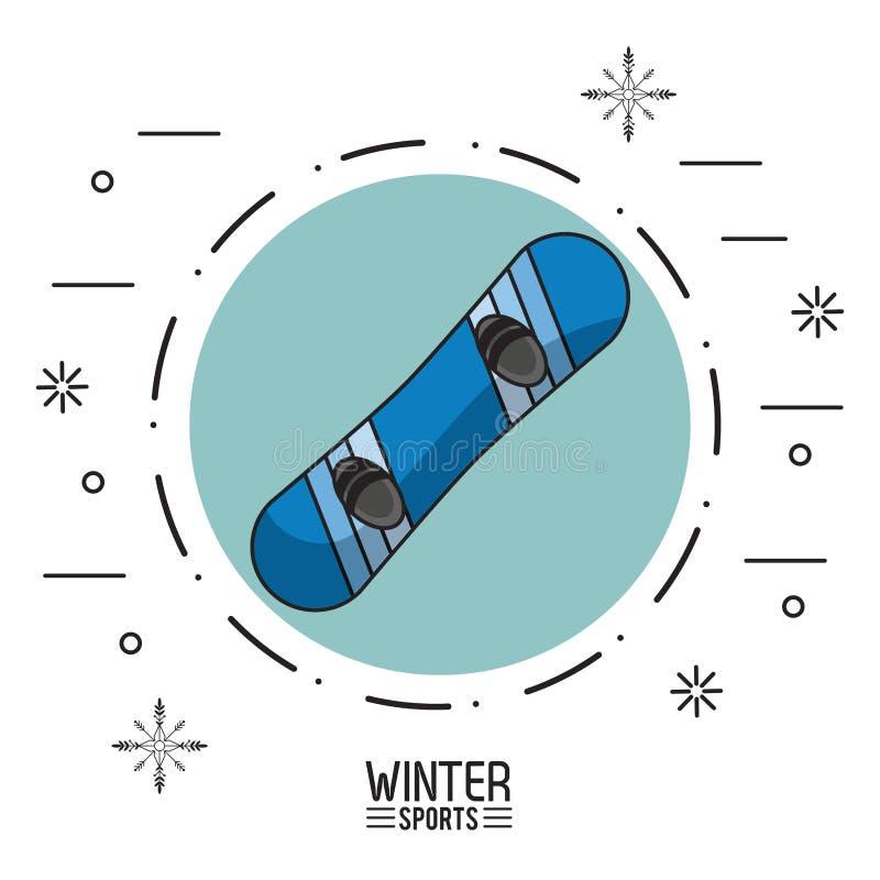 Esportes do extremo do inverno ilustração stock