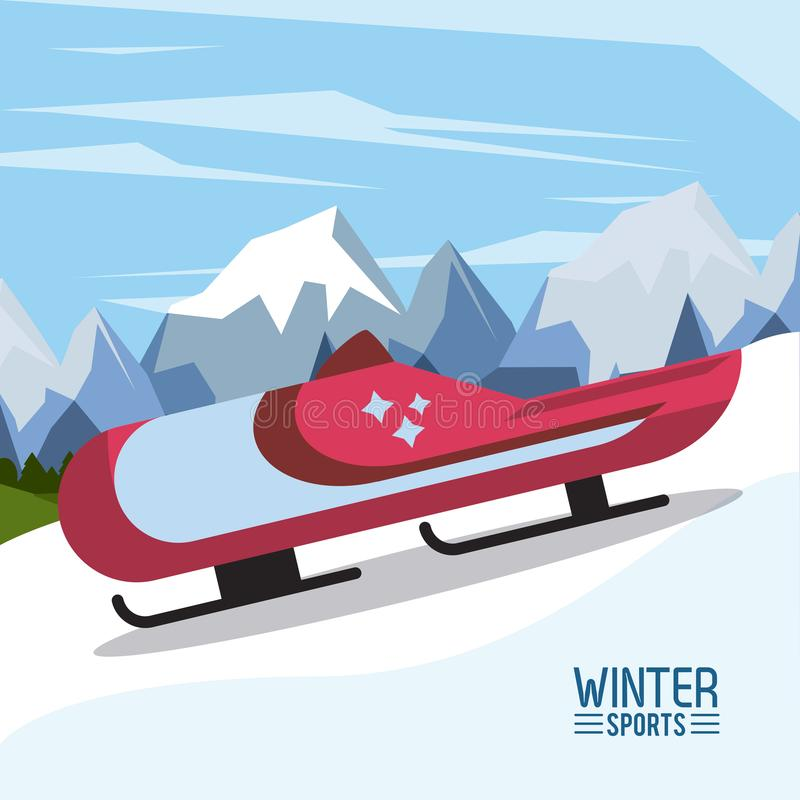 Esportes do extremo do inverno ilustração royalty free