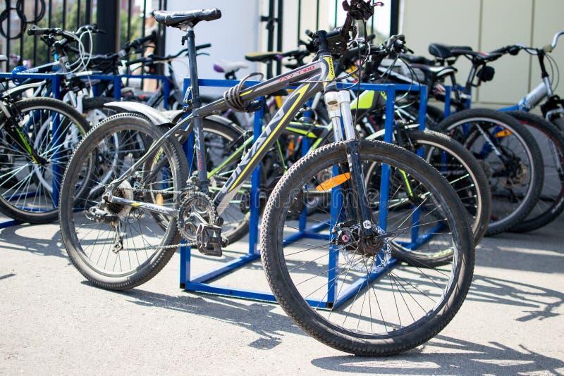 Esportes e Mountain bike foto de stock