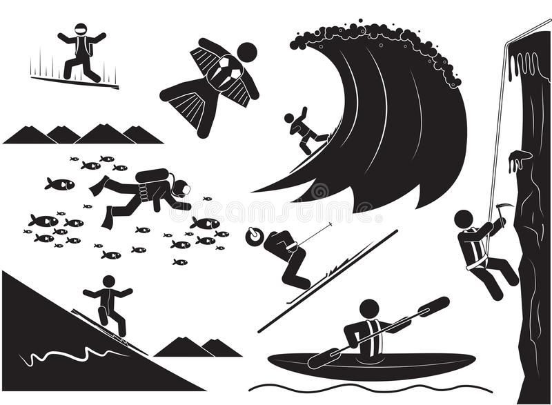 Esportes extremos ilustração royalty free