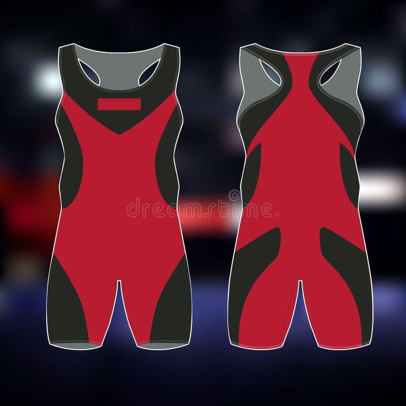 Esportes profissionais uniformes para a luta romana greco-romana Imagem isolada ilustração royalty free