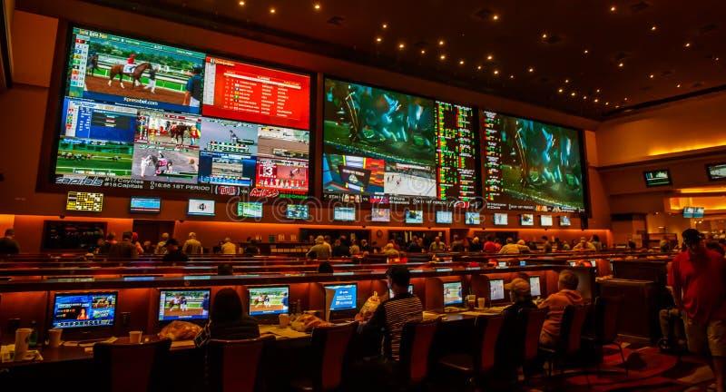 Esportes que apostam a sala imagem de stock