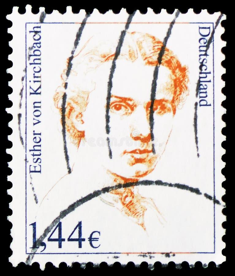 Esposa de Esther von Kirchbach 1894-1946, do poeta e do pastor, mulheres no serie alemão da história, cerca de 2002 fotos de stock
