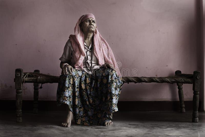 Esposa de Sadhu imagen de archivo libre de regalías