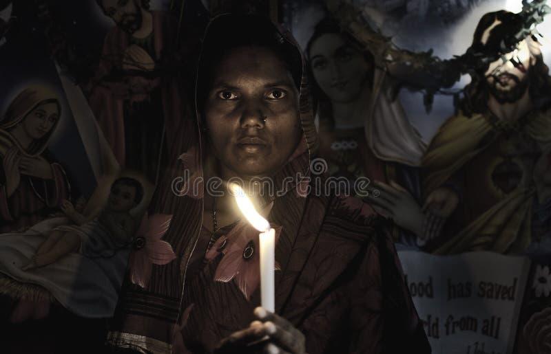 Esposa de Sadhu fotografía de archivo libre de regalías