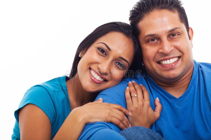 Esposa indiana do marido fotografia de stock royalty free