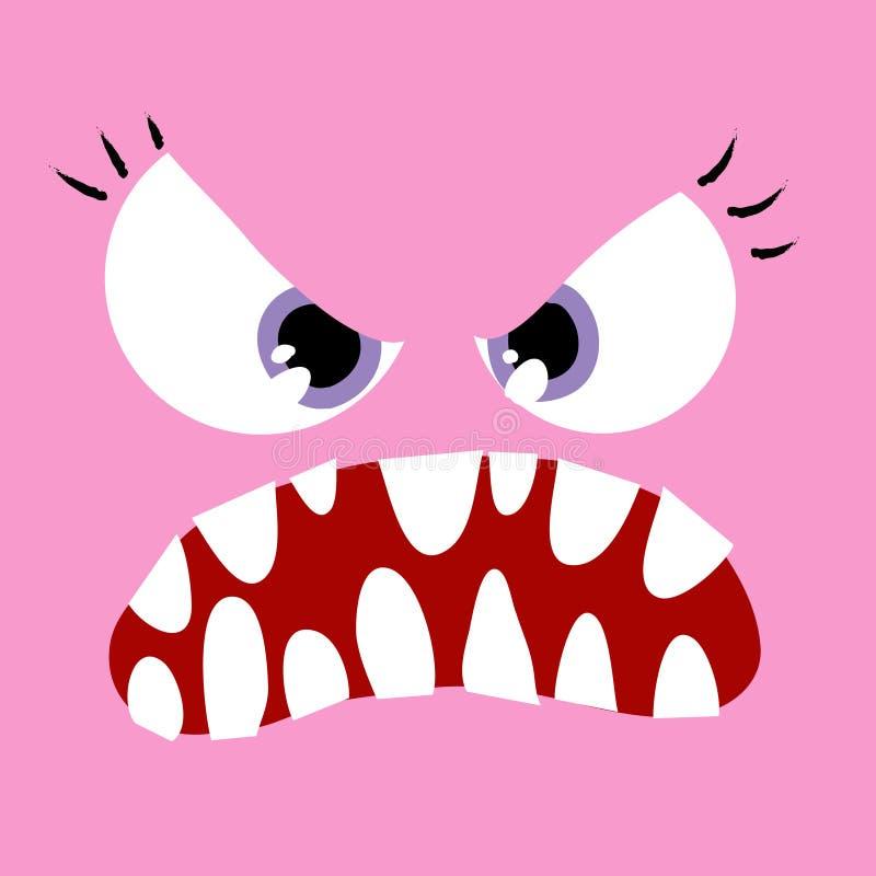 Esposa para arriba-enojada cercana del monstruo stock de ilustración