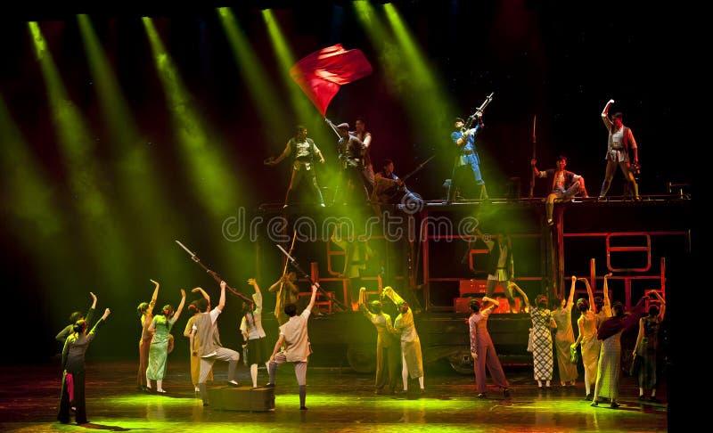 Esposizione cinese di dramma di ballo moderno immagine stock