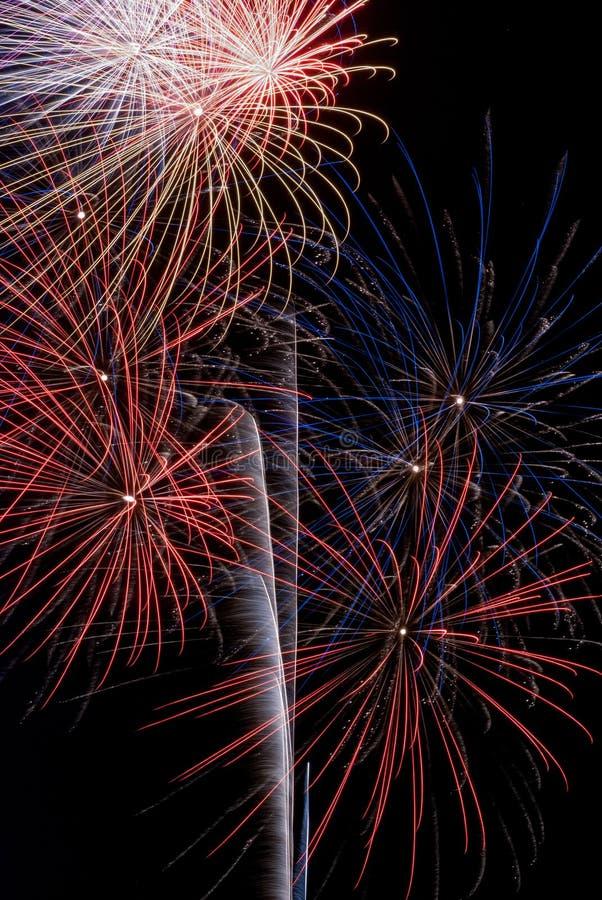 Esposizione del fuoco d'artificio fotografia stock libera da diritti