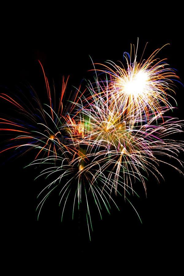 Esposizione del fuoco d'artificio immagine stock libera da diritti