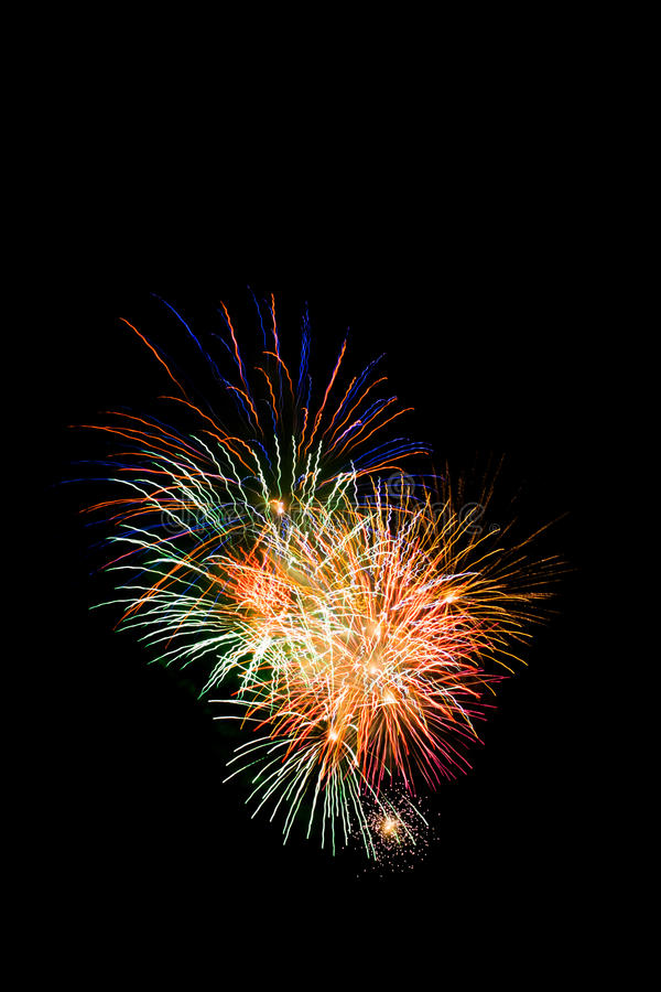 Esposizione del fuoco d'artificio fotografia stock