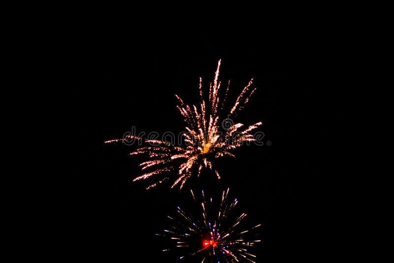 Esposizione del fuoco d'artificio a Grand Rapids fotografia stock