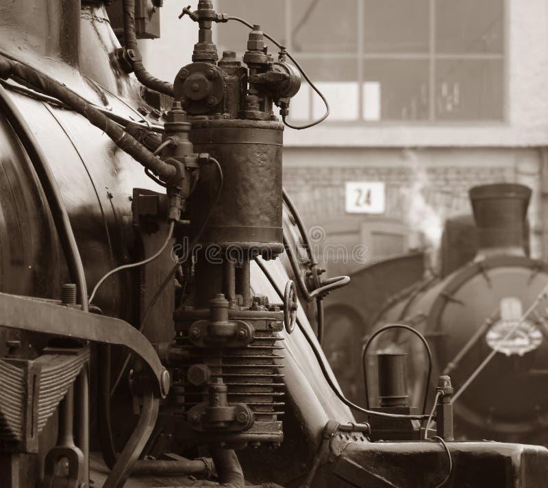 Esposizione del treno del vapore immagini stock libere da diritti