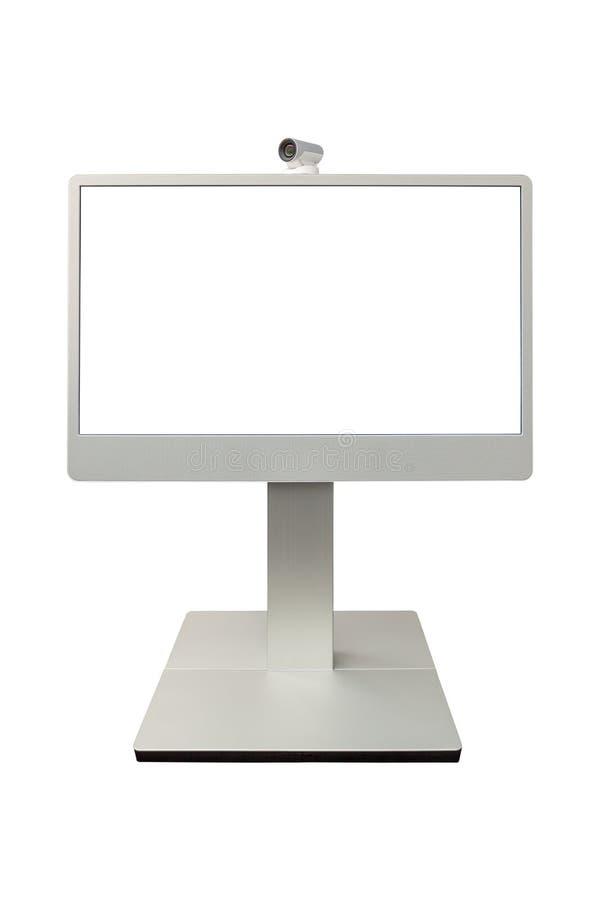 Esposizione della macchina fotografica di teleconferenza, di videoconferenza e di telepresence fotografie stock libere da diritti