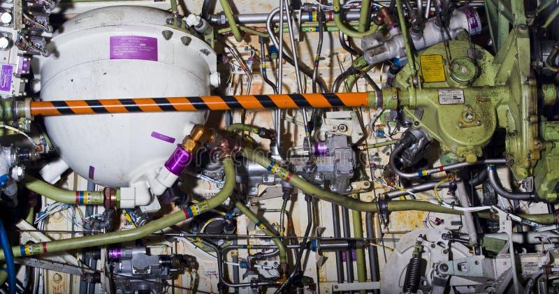 Esposizione dettagliata delle parti dei velivoli. immagine stock libera da diritti