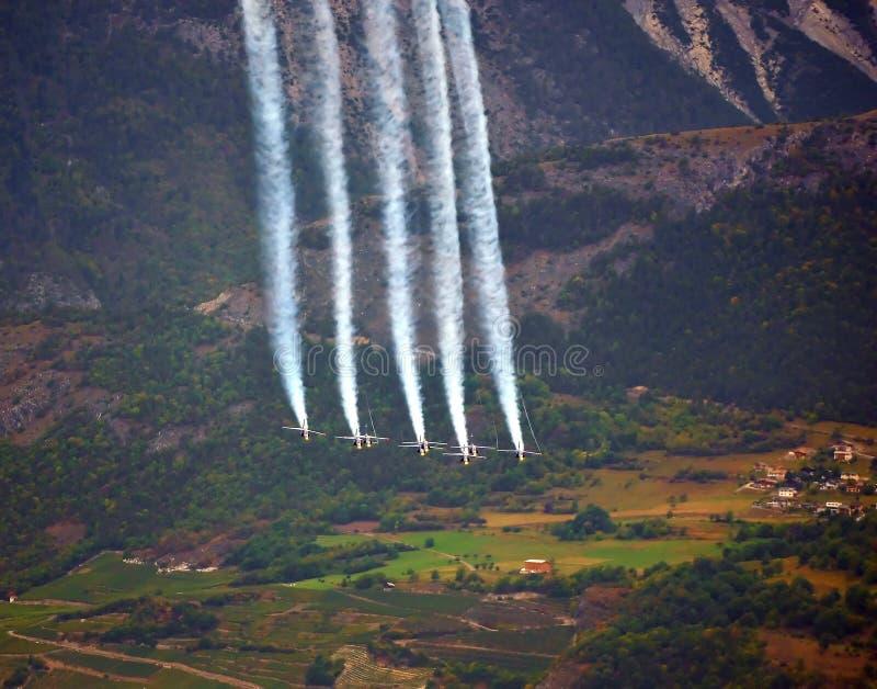 Esposizione di aria di Breitling Sion fotografia stock libera da diritti