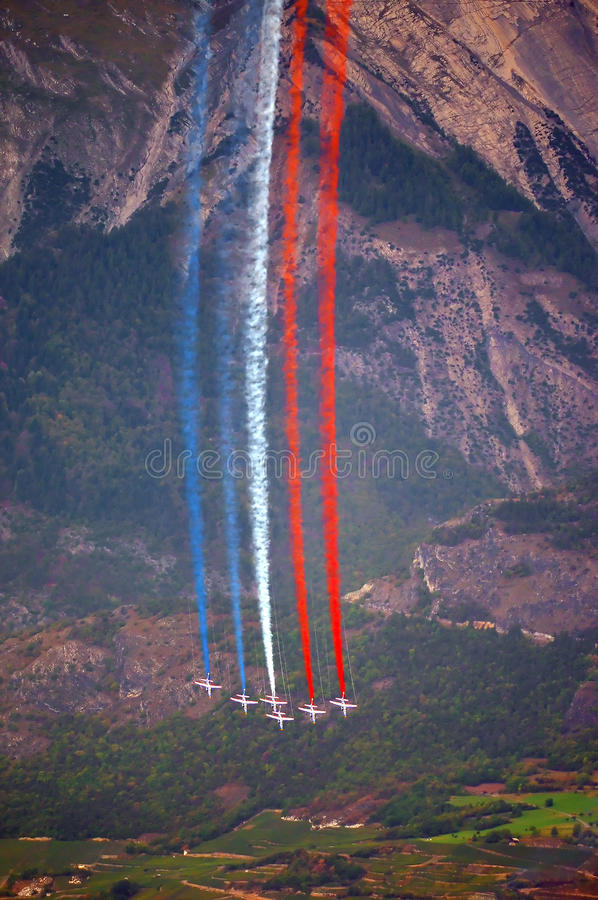 Esposizione di aria di Breitling Sion immagine stock