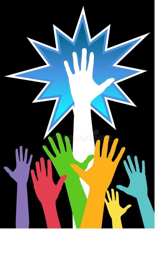 Esposizione di diversità delle mani 2 illustrazione di stock