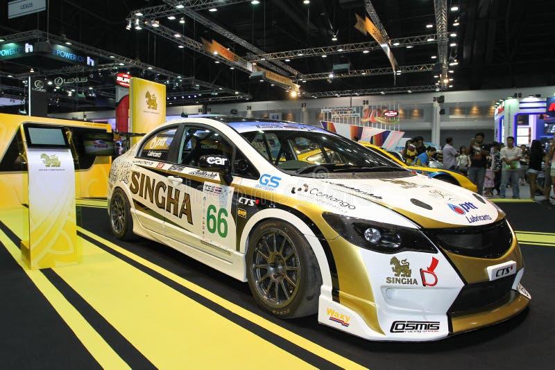Esposizione di Honda Civic FD nell'Expo internazionale 2013 del motore della Tailandia fotografia stock libera da diritti