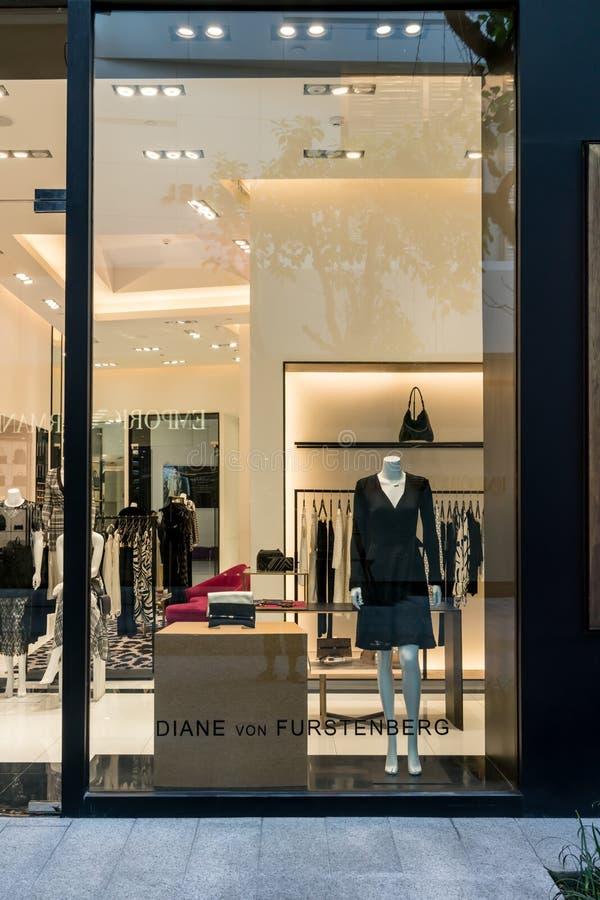 Esposizione di lusso ed alla moda della finestra di marca Nuova raccolta della b fotografie stock libere da diritti