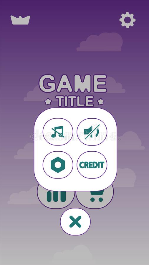 Esposizione di progettazione di schermo del gioco UI delle azione di vettore royalty illustrazione gratis