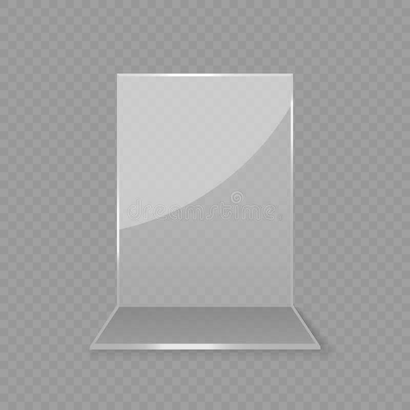 Esposizione di vetro acrilica della carta della tavola illustrazione vettoriale