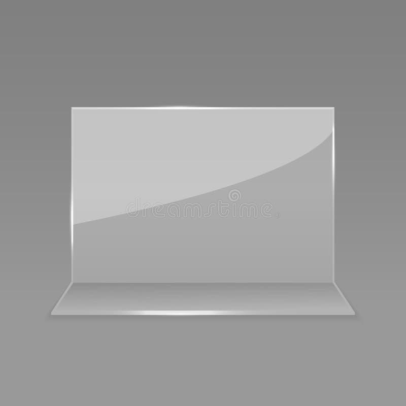 Esposizione di vetro acrilica della carta della tavola royalty illustrazione gratis