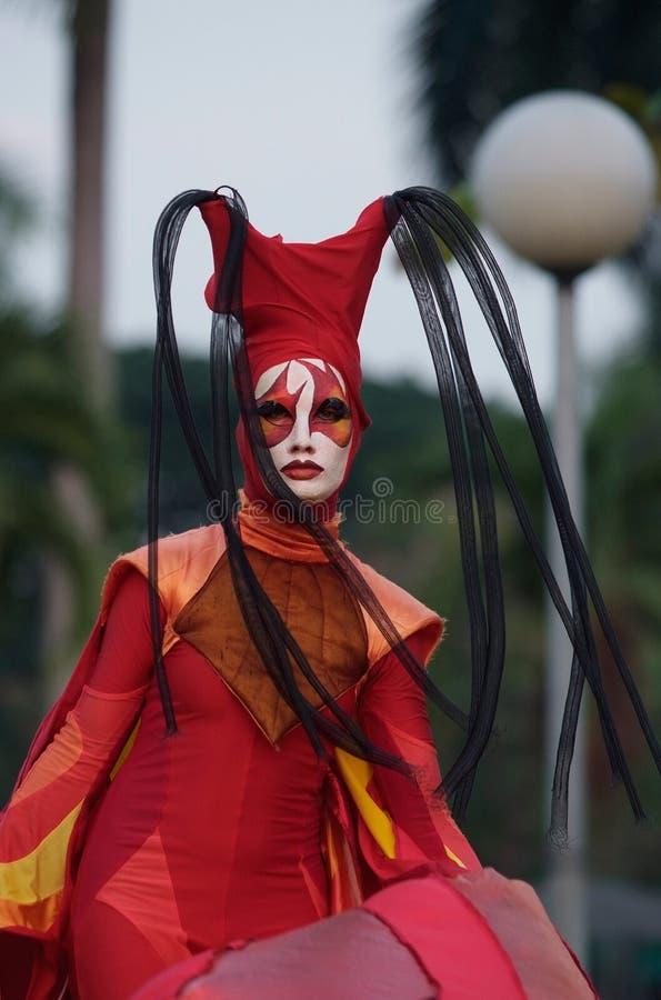 Esposizione internazionale della via a Bangkok, Tailandia immagine stock libera da diritti