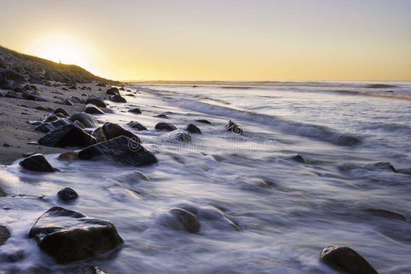 Esposizione lunga ad alba in Long Island, New York fotografie stock libere da diritti