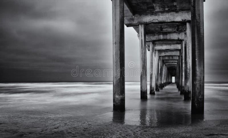 Esposizione lunga della California della spiaggia di La Jolla immagini stock libere da diritti