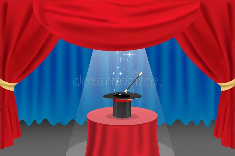 Esposizione magica sulla fase royalty illustrazione gratis